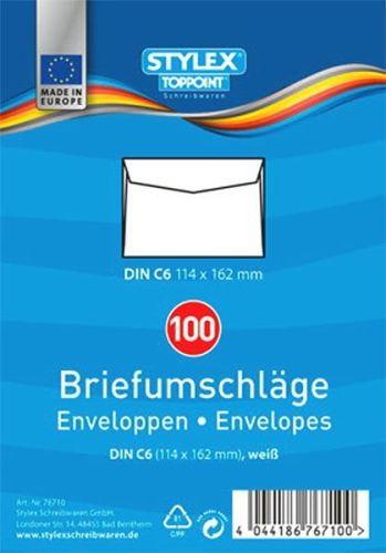 Briefumschläge, DIN C6, 100 Stück