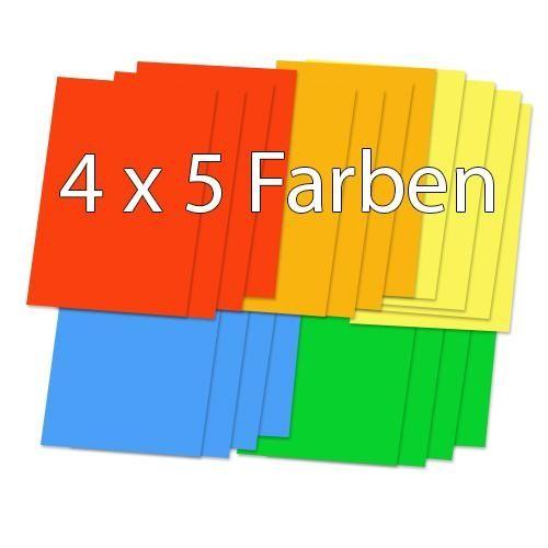 Briefumschläge, DIN C6, farbig sortiert, 20 Stück