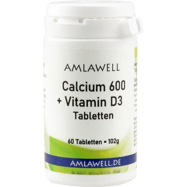 Amlawell Calcium 600 + Vitamin D3 Tabletten / 60 Stück